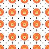Bezszwowy lwa wzór Zdjęcie Stock