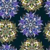 Bezszwowy mandala wzór dla drukować na papierze lub tkaninie Islamu i języka arabskiego motywy Zdjęcia Royalty Free