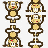bezszwowy małpa śliczny mały wzór Fotografia Stock