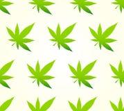 Bezszwowy Marihuana Wzór Obrazy Royalty Free