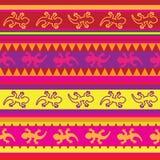 Bezszwowy meksykański jaszczurki tkaniny wzór Zdjęcie Royalty Free