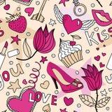 bezszwowy miłość żeński wzór Obraz Stock