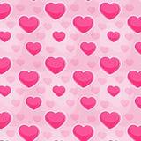 Bezszwowy miłość wzór Fotografia Royalty Free