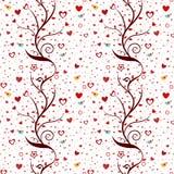 Bezszwowy miłość wzór ilustracji