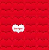 Bezszwowy miłość wzór serca. Obraz Stock