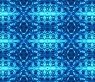 Bezszwowy miarowy elipsa wzór w błękitnych cieniach Obrazy Stock