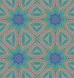 Bezszwowy miarowy gwiazdowego wzoru mennicy zieleni błękit Obrazy Royalty Free
