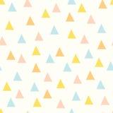 Bezszwowy minimalny wektoru wzór z kolorowymi trójbokami Obraz Stock