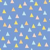 Bezszwowy minimalny wektoru wzór z kolorowymi trójbokami Fotografia Royalty Free