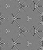 Bezszwowy monochrom spiral wzór geometryczny abstrakcjonistyczny tło Fotografia Royalty Free