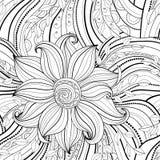 Bezszwowy monochromatyczny kwiecisty wzór royalty ilustracja