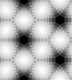 Bezszwowy monochromatyczny kwiecisty wzór geometryczny abstrakcjonistyczny tło Stosowny dla tkaniny, tkaniny i pakować, ilustracja wektor