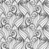 Bezszwowy Monochromatyczny Kwiecisty wzór (wektor) Zdjęcie Stock