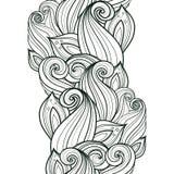 Bezszwowy Monochromatyczny Kwiecisty wzór (wektor) Fotografia Stock