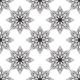 Bezszwowy monochromatyczny ornament Obraz Royalty Free