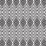 Bezszwowy monochromatyczny tło z przeplatać Zdjęcia Stock