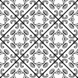 Bezszwowy monochromatyczny wektoru wzór Czarny i biały ceramiczna płytka Obrazy Royalty Free