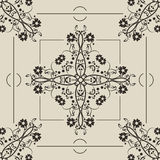 Bezszwowy monochromu wzór Zdjęcia Royalty Free