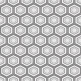 Bezszwowy monochromu wzór geometryczny z okręgami Fotografia Royalty Free