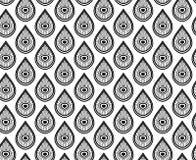 Bezszwowy monochromu wzór z kroplami Obrazy Royalty Free
