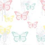bezszwowy motyli wzór Zdjęcia Stock
