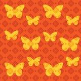 bezszwowy motyli wzór Obrazy Royalty Free