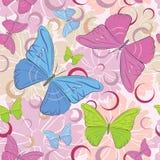 bezszwowy motyli wzór Zdjęcia Royalty Free