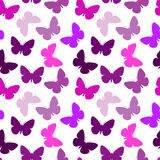 bezszwowy motyli wzór Obraz Royalty Free