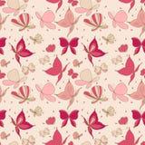 Bezszwowy motyli wzór Fotografia Royalty Free