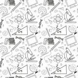 Bezszwowy nakreślenie edukaci doddle elementy ilustracja wektor