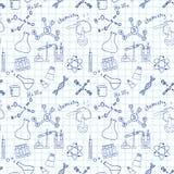 Bezszwowy nakreślenie nauki doddle elementy ilustracja wektor