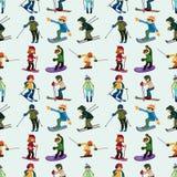 Bezszwowy narta wzór Fotografia Royalty Free