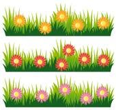 Bezszwowy natura projekt z kwiatami royalty ilustracja