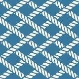 Bezszwowy nautyczny linowy kępka wzór, kratownica Fotografia Royalty Free