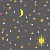 Bezszwowy niebo wzór Zdjęcia Stock