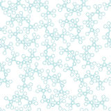 Bezszwowy niekończący się ornamentacyjny wzór z molekułami Zdjęcia Stock