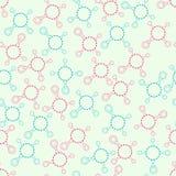 Bezszwowy niekończący się ornamentacyjny wzór z molekułami Obrazy Stock