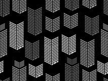 Bezszwowy nocy miasta okno wzór Drapacze chmur, isometric miasto budynki, metropolia wektor ilustracji