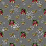 Bezszwowy, nowego roku tło dla wakacyjnej dekoracji greaser royalty ilustracja