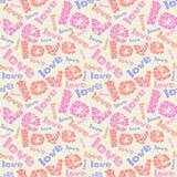 Bezszwowy nowożytny miłość wzór Tileable tło Fotografia Royalty Free