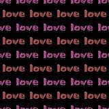Bezszwowy nowożytny serce wzór Tileable tło Zdjęcia Royalty Free