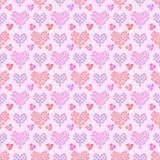 Bezszwowy nowożytny serce wzór Tileable tło Fotografia Stock