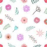 Bezszwowy nowożytny wzór z kwiatami Oryginalny projekt zdjęcia royalty free