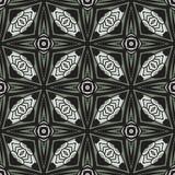 Bezszwowy okręgu rocznika kwiatu wzoru tło Ilustracja Wektor
