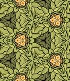 Bezszwowy okręgu rocznika kwiatu wzór Obraz Stock
