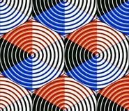 Bezszwowy okulistyczny ornamentacyjny wzór z trójwymiarowym geome Zdjęcia Royalty Free