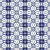 Bezszwowy ornamentacyjny wzór w błękicie Zdjęcia Royalty Free