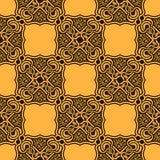 bezszwowy ornamentu kolor żółty Obraz Stock