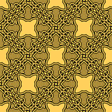 bezszwowy ornamentu kolor żółty Zdjęcia Royalty Free