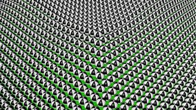 Bezszwowy pętla ruchu tło z jaskrawymi kolorowymi geometrycznymi kształtami royalty ilustracja